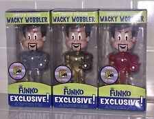 FUNKO FREDDY IRON MAN RED GOLD GREY SDCC 2009 WACKY WOBBLER SET 48 MADE EA. Pop