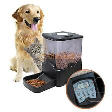 Automatic Pet Feeder Dog Cat Programmable Animal Food Bowl LED Display Black