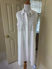 NWT $ 695 Alexander McQueen white cotton dress IT 40 US 4-6