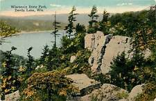 Wisconsin, WI, Devils Lake, Wisconsin State Park Early Postcard