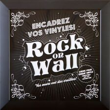 Rock on Wall Vinyl Record LP Sleeve Display Frame - Black