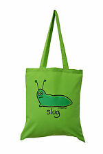 NEW TOTE BAG: SLUG, Lime Green, 100% cotton