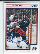 Jared Boll Signed 2012/13 Score Card #159