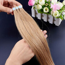 8A Seamless 20pcs/lot 16-26inch PU Skin Weft Tape in Remy Human Hair Extensions