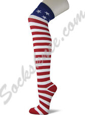 American USA Flag stars stipes Thigh High Over Knee American Pride Flag Socks