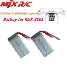 2 unidades x 7.4V 1200mAh 30C Lipo Repuesto Batería Para MJX X101 A97