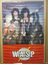 vintage 1984 W.A.S.P original rock band poster music artist  8422