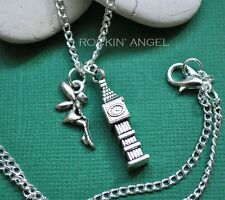 Antique Silver Plt Tinkerbell, Peter Pan Inspired Pendant Necklace Ladies Gift