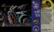 1993 Bob Eggleton SIGNED Star Trek Master Series Art Card Enterprise Asteroids
