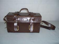 Vintage Heavy Thick Brown English Cow Hide Leather Traveling Box Case.
