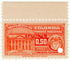 (I.B) Colombia Revenue : State Duty 50c (specimen)