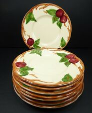 Set of 8 Franciscan APPLE Bread & Butter Plates 1940s 1950s