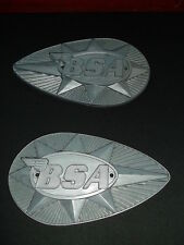BSA A65 B25 B44 VINTAGE MOTORCYCLE FUEL GAS TANK BADGES