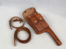 Military WW2 German Mauser C96 Broomhandle Leather Holster W Straps