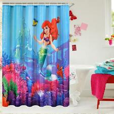 Disney Little Mermaid Ariel & Sebastian Bathroom Shower Curtain 180cm x 180cm