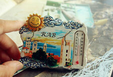 Rab Island in Croatia, Tourist Travel Souvenir 3D Resin Fridge Magnet Craft GIFT