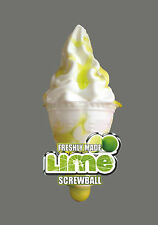 Sb105 ICE CREAM VAN STICKERS - LIME SCREWBALL