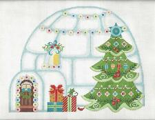 SP.ORDER ~ Christmas Igloo HP Needlepoint Canvas & Stitch Guide Series Danji