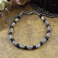 Hot Fashion Tibetan Silver Jewelry Beads Bangle Turquoise Chain Bracelets S40B