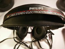 Vintage Retro Philips SBC 3165 Semi Open Acoustic System Headphones 10Ft CABLE