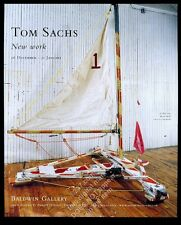 2004 Tom Sachs ice boat sculpture photo Aspen gallery vintage print ad