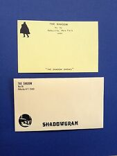 THE SHADOW - WALTER B. GIBSON PERSONAL STATIONERY SHADOWGRAM CARD & ENVELOPE