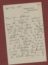 Letter.  1936.  Geraldine Mozley, Amen Court, London. Mr Whitmore.  z134d