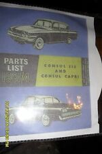 FORD CLASSIC 109E AND FORD CONSUL CAPRI 116E INCLUDING THE GT WORKSHOP MANUAL CD