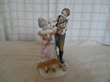 Lefton china hand painted bisque porcelain courting couple figure 4144