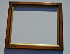 BEAUTIFUL LG ANTIQUE VICTORIAN CARVED EAST LAKE STYLE GILT WOOD PICTURE FRAME