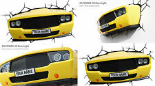 Genuine 3DLIGHTFX® YELLOW MUSCLE CAR Light 3D LED Wall Night Light Lamp