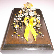 NAIL FLOWER ART Art from Hardware Nails Wooden Plaque