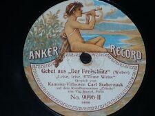 CELESTE 78 rpm RECORD Anker CARL STABERNACK Litanei SCHUBERT Freischütz WEBER