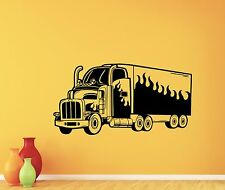 Big Truck Wall Decal Auto Car Nursery Poster Vinyl Sticker Garage Decor 73hor