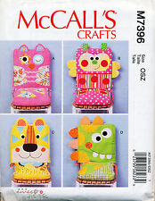 MCCALL'S SEWING PATTERN 7396 NOVELTY ANIMAL MOTIF CHAIR COVERS & SEAT CUSHIONS