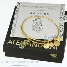Authentic Alex and Ani Octopus Unicef Yellow Gold Bangle