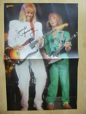 """James Young & Tommy Shaw """"Styx"""" Autogramme signed 28x41 cm Poster gefaltet"""