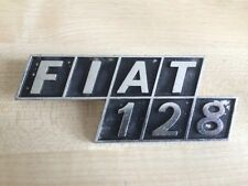 USED FIAT 128 Badge Emblem Silver Sided Style - Thick Letters - Metal