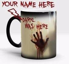 WALKING DEAD PERSONALIZED NAME ZOMBIE HUNTER-Magic Color Changing Coffee Mug Cup