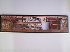 Laundry Room Sign Country Rustic wall decor picture primitive plaque