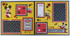 Premade 12x12 Disney Scrapbook Pages/Layout  - Mickey Mouse (Character Sighting)
