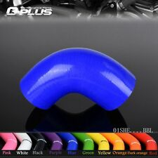 """1.5"""" to 2"""" 38mm- 51mm Silicone 90 Degree Elbow Reducer Turbo Pipe Hose Blue"""