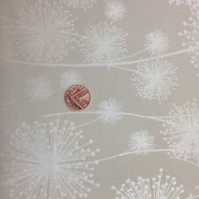 NATURES PEARL FLOATING DANDELION SHADOW CREAM 100% COTTON FABRIC FAT QUARTER