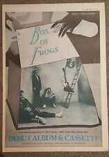 Box of Frogs Jeff Beck 1984 press advert Full page 30 x42cm mini poster