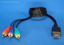HDMI TO 3-RCA MONITOR ADAPTER CABLE COMPUTER TV VIDEO RGB CONNECTER US SELLER