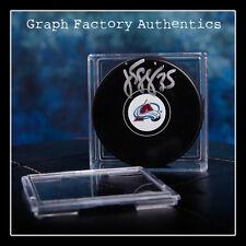 **GFA Colorado Avalanche *JEAN-SEBASTIEN GIGUERE* Signed NHL Logo Puck MH1 COA**