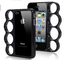 Coque Iphone 4 4S POING AMERICAIN NOIR Noire BUMPER Fashion Case Black Knuckle