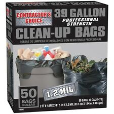 Contractor's Choice 50-Count 39-Gallon Garbage Outdoor Construction Trash Bags
