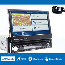 "1 Din In Dash Car Stereo DVD Player 7"" Touch Screen GPS Bluetooth+Backup Camera"
