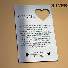 Personalised Soulmate Wallet Insert - I Love You Valentines Gifts For Him/Her